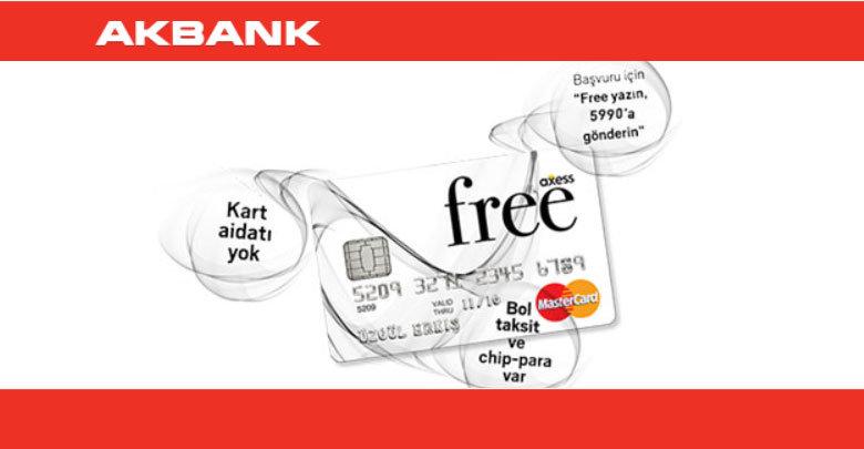 Akbank Free Kart - Aidatsız Kart