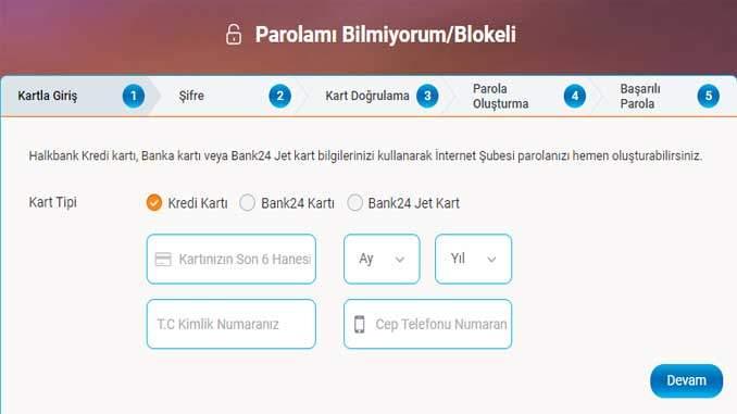 Halk Bankası İnternet Bankacılığı Şifresi Oluşturma