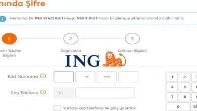 ING Bank İnternet Bankacılığı Şifre Alma