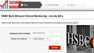 hsbc internet bankacılığı giriş