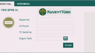 Kuveyt Türk cep şubesi şifre alma