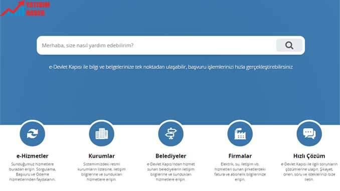 E Devlet Ana Sayfa