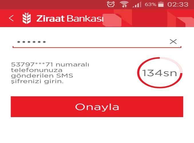SMS Onay Aşaması