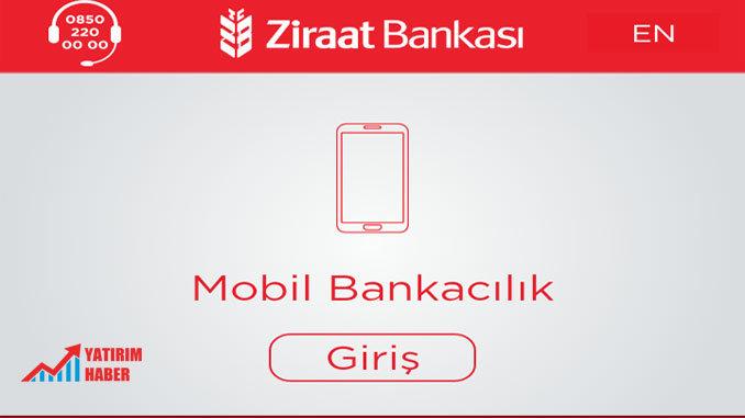 Ziraat Bankası Mobil Şifre Alma