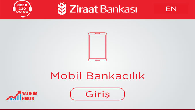 Ziraat Mobil Şifre Alma