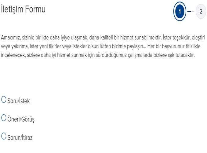 İşbank İletişim Formu