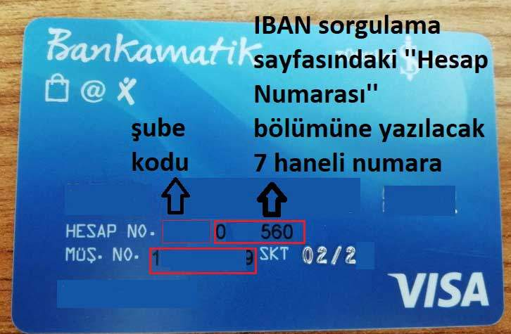 İşbank kartından müşteri numarası, şube kodu ve hesap no öğrenme