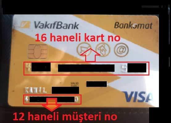 Karttan Vakıfbank Müşteri Numarası Öğrenmek