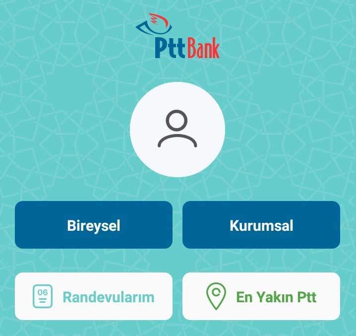 PTT Mobil Bankacılık Ana Sayfa