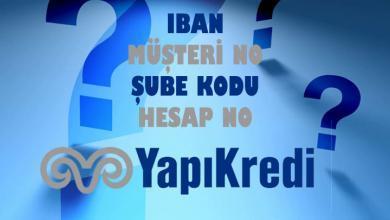 Photo of Yapı Kredi IBAN Sorgulama Hesap-Müşteri Numarası Öğrenme