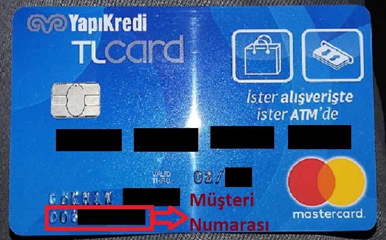 Yapı Kredi Müşteri No Öğrenme