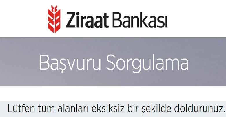 Ziraat Bankası Başvuru Takip 2020