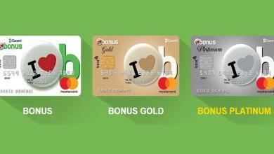 Garanti Bonus Kart Aidatı 2020 (Yıllık)