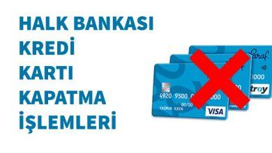 Photo of Halkbank Kredi Kartı İptali (En Hızlı Yöntemler)