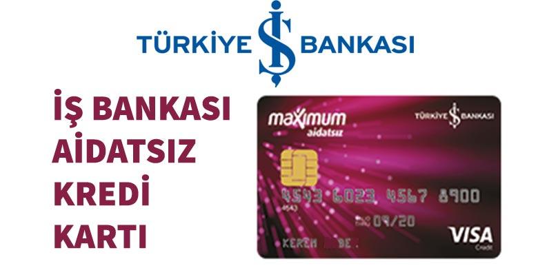 Türkiye İş Bankası Aidatsız Kart