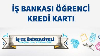 Photo of İş Bankası Öğrenci Kredi Kartı (İşte Üniversiteli)