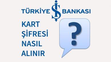 Türkiye İş Bankası Kredi Kartı Şifre Alma