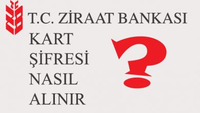 Ziraat Bankası Şifre Alma 4757