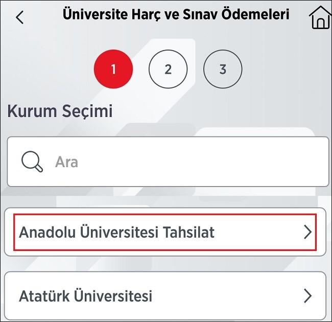 Harç Ödemesi İçin Üniversite Seçimi