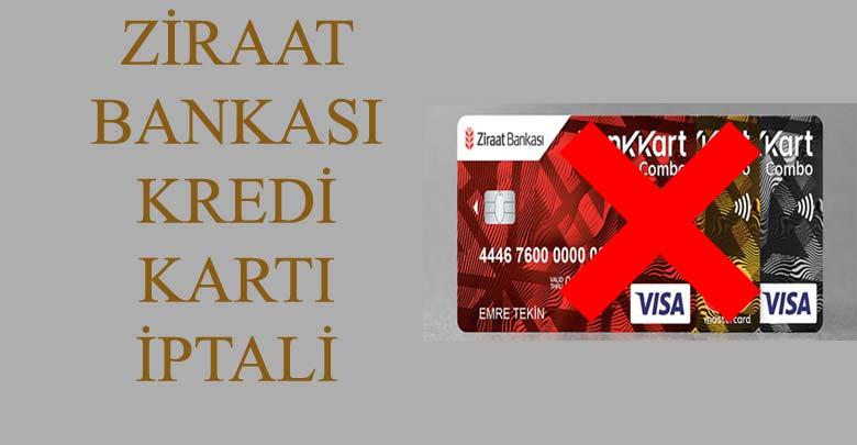 TC Ziraat Bankası Kredi Kartı İptal Etme