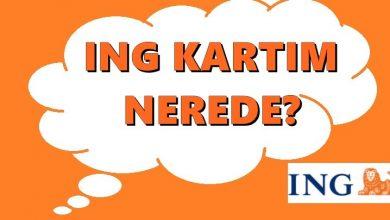 Photo of ING Kartım Nerede? (Kurye Takip)