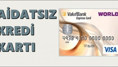 Photo of Vakıfbank Aidatsız Kredi Kartı Express Card