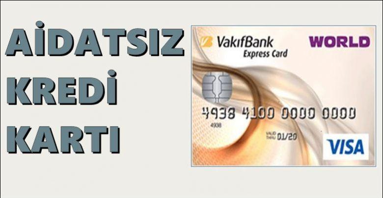 vakıfbank aidatsız kredi kartı hangisi