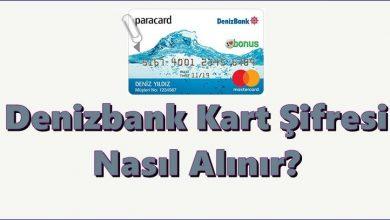 Denizbank Banka Kartı Şifre Alma