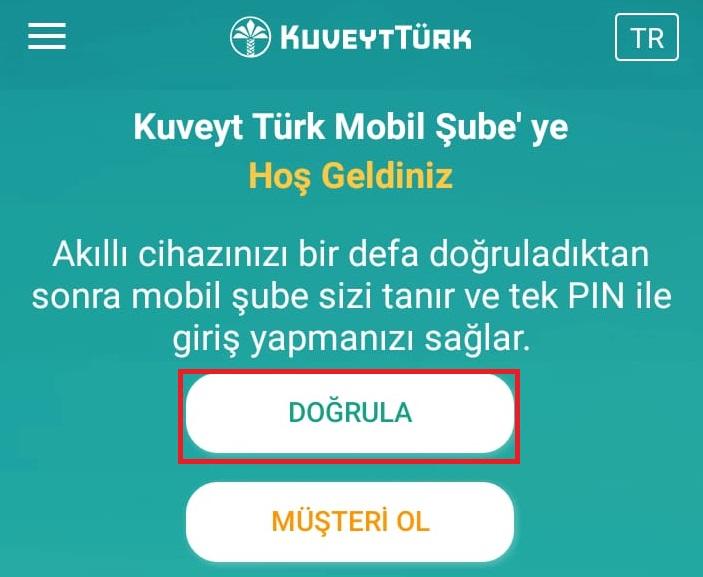 Kuveyt Türk cep şubesi