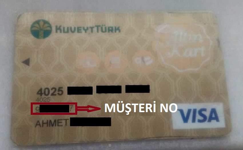 Kuveyt Türk Müşteri Numarası Kartın Neresinde?