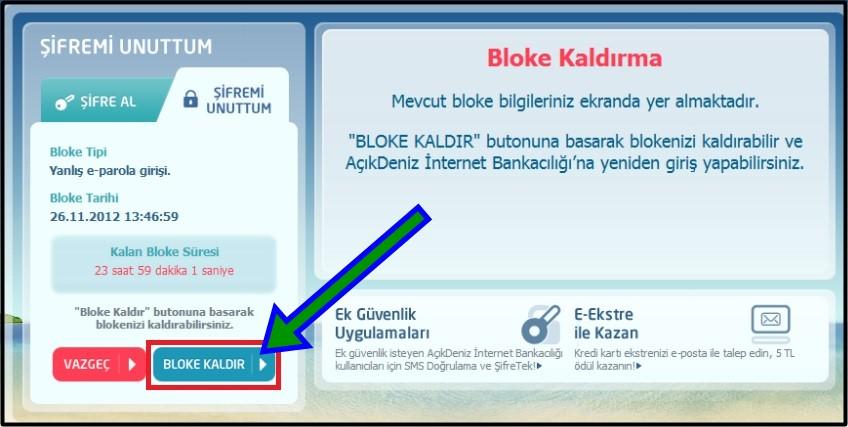denizbank sim kart değişikliği bloke kaldırma